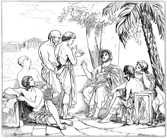 Plato_i_sin_akademi_av_Carl_Johan_Wahlbom_ur_Svenska_Familj-Journalen