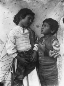 two-sicilian-children-in-folk-costume